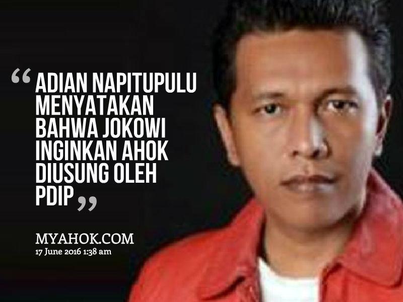 Jokowi ingingkan AHok diusung PDIP
