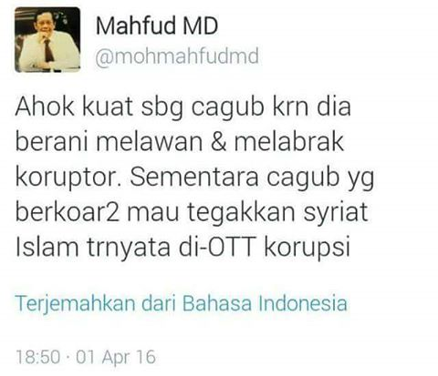twitt mahfud md