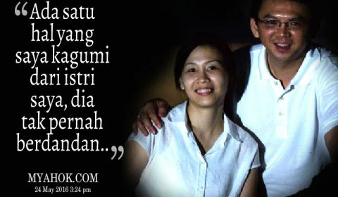 banner AHOK cinta istri