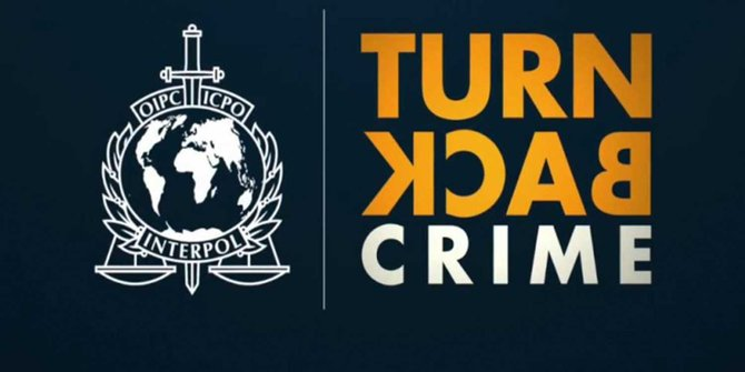 logo Interpol Turn Back Crime
