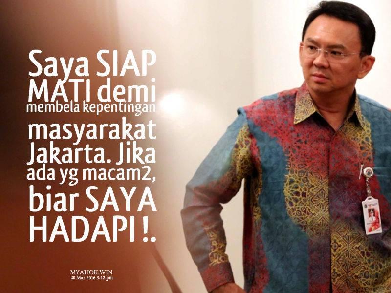 AHOK pembela warga Jakarta